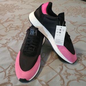 Adidas Originals I-5923 Black/Shock Pink Sneakers